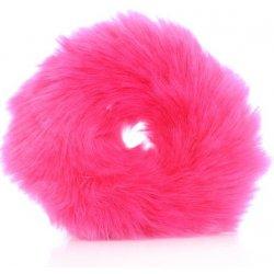 TRD Hairy BAND Chlupatá kožešinová tmavě růžová gumička do vlasů GUM253 8cm a0fe011d98