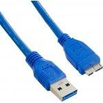 4World 08963 USB 3.0 AM- Micro BM, 1,8m, modrý