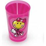 Zak Designs SMILEY sklenice girl růžová 260 ml