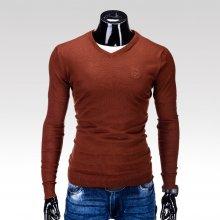 Ombre Clothing pánský svetr Verel hnědý