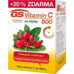 GS Vitamin C500 + šípky 120 tablet