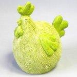 Slepice keramika 20x14V20,2cm zelená