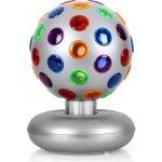 OneConcept Disco Ball 7 W světelný efekt stříbrný