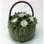 Vermont balzamované květiny - Košík malý (slonovina)