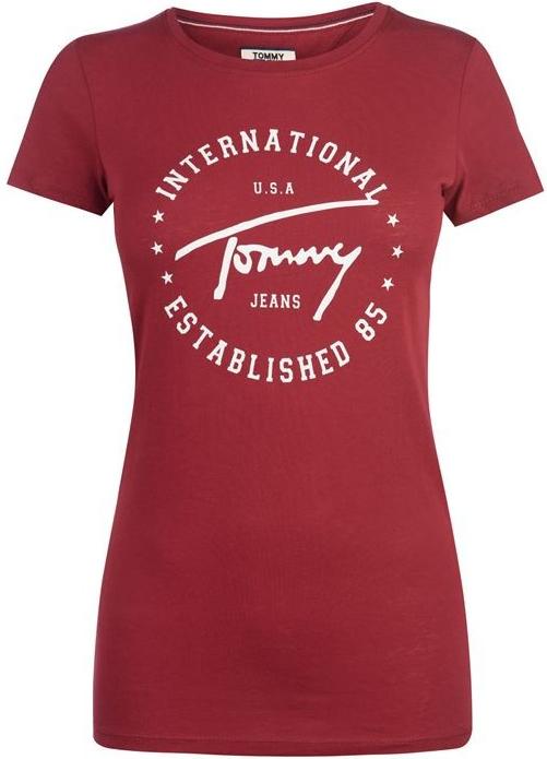912276eb06 Tommy Hilfiger Jeans Script Circle Červené od 799 Kč - Heureka.cz