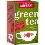 Mistral Zelený čaj svěží máta a malina 20 x 1.5 g
