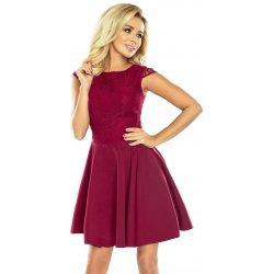 Numoco šaty s širokou sukní bordó od 1 092 Kč - Heureka.cz 54def630dc