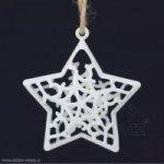 Vánoční závěsná dekorace HVĚZDA kovová