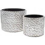 BKS DECOR - Květináč Florian velký, 24x24x18 cm, keramika jako