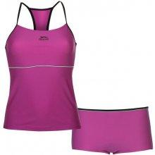 Slazenger Tankini Set Ladies Purple/Charcoal