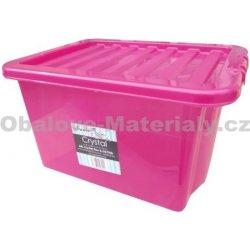 Úložný box WHAM 12322 BOX S VÍKEM 24L RŮŽOVÁ