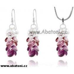Swarovski Xilion Rivoli stříbrná souprava hrozen s krystaly 39104.2  Amethyst fialová fa553864a43