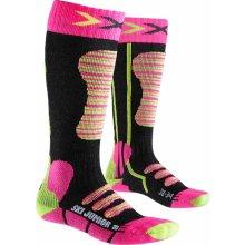 X-Socks Junior Ski Dětské lyžařské ponožky Fuchsia