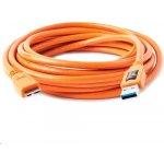 Tether Tools CU5454 USB 3.0 A/Micro B, 4,6m, oranžový