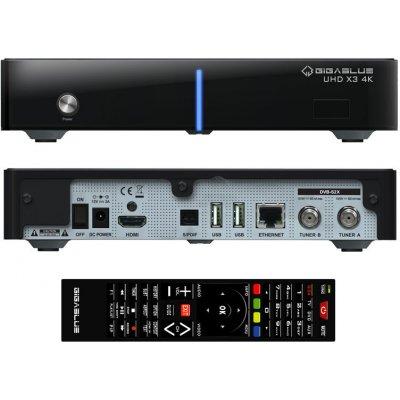 GigaBlue UHD X3 4K (1x dual DVB-S2X FBC)