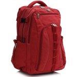L&S fashion Červený plátěný batoh LS00398 červená