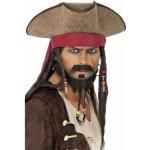 Klobouk pirátský s vlasy a šátkem Jack Sparrow