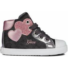 Geox Dívčí kotníkové boty Kilwi - tmavě šedé de8ed06f60