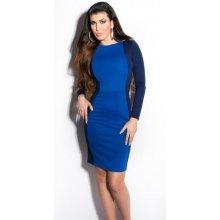 29af97882796 KouCla dámské business šaty zeštíhlující modrá
