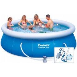 Bazén Bestway Fast Set 3,66 x 0,91 m s kartušovou filtrací a bazénovým vysavačem Deluxe