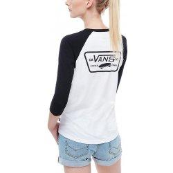 Vans Full Patch white black. VANS Dámské triko Full Patch Raglan ... 0c2b2f154e