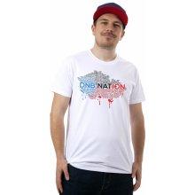DNBMARKET.CZ Pánské tričko DNB Nation bílé