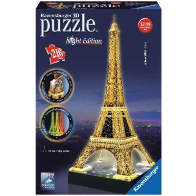 Ravensburger Puzzle Eiffelova věž - Noční edice 3D - 216 dílků