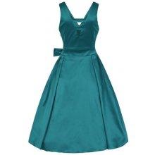 Lady V London společenské šaty Iris petrolejová 35e0e621ce