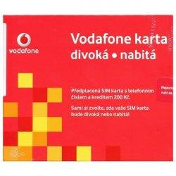 Sim Karta Vodafone Divoka Nabita Kredit 200 Kc Alternativy
