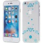Pouzdro KINGXBAR Swarovski Apple iPhone 6 / 6S plastové - modré