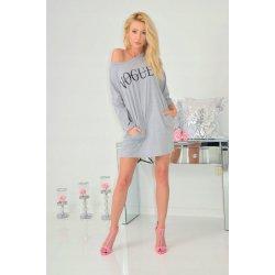 54d2194a5af6 Fashionweek moderní sportovní pohodlné teplákove šaty Vogue SV33 šedá
