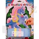 SMT Creatoys 3D mozaikový obrázek Modrý koník
