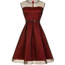 Lindy Bop Dámské retro šaty Lindy Bop ALEENA Bordó ARR d49410c4980