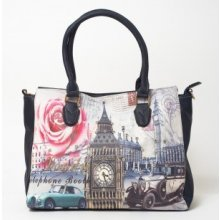 kabelka Vintage London city Modrá Gift3 BAG7 67ca431152e