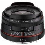 Pentax DA 15mm f/4 ED AL