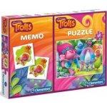 CLEMENTONI puzzle & pexeso: Trollové