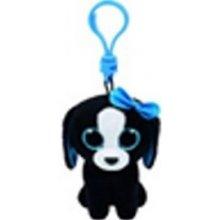 Přívěsek na klíče Plyš očka černo bílý pes