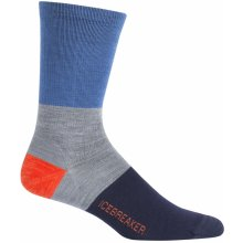Icebreaker Mens Lifestyle Ultra Light Crew Rugby Stripe, SEA BLUE/Twister HTHR/Midnight Navy