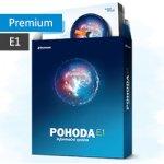 Pohoda Premium 2018 E1 účetnictví, sklady, mzdy Licence pro 1.počítač