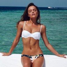V&V Floral Suzan plavky - bikiny bílá