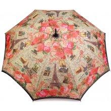 Dámský vystřelovací deštník světové metropole 2. jakost růžová střední 12 ks
