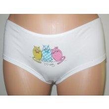 Andrie Kalhotky dámské s nohavičkou PS 2562 bílé kočka f58c4c1d2d