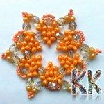 Vánoční hvězda, Barva Oranžová Korálky Katlas