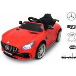 Beneo Elektrické autíčko Mercedes Benz GTR 12V 2,4 GHz dálkové ovládání odpružení otvíravé dveře měkké EVA kola kožené sedadlo červené