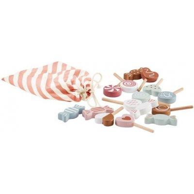 Kids concept Bonbony dřevěné v sáčku Bistro Modrá