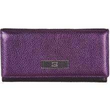 GIUDI dámská fialová kožená peněženka 7415