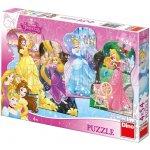 Dino Puzzle Hravé princezny 13x20cm v krabici 33x23x3