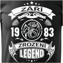 Bezvatriko.cz 0271 Pánské tričko Zrození legendy Černá česky