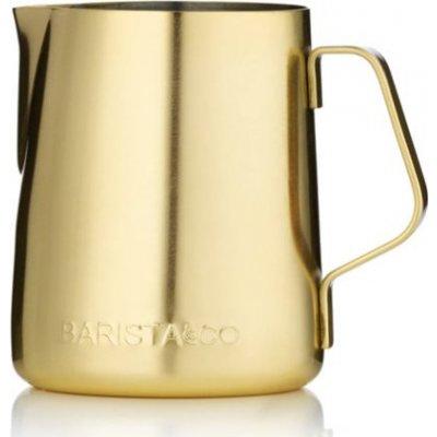 Barista & Co - konvička na mléko zlatá objem 420 ml