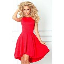 1e9d9c18cec Numoco dámské společenské šaty s asymetrickou sukní krátké červená